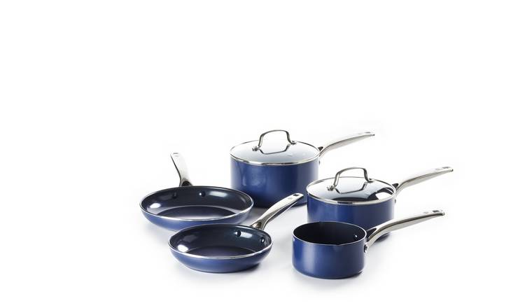 Blue Diamond 5 Piece Non Stick Ceramic Pan Set