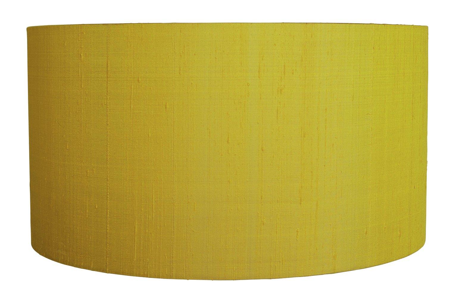 Habitat 49cm Drum Silk Shade - Yellow