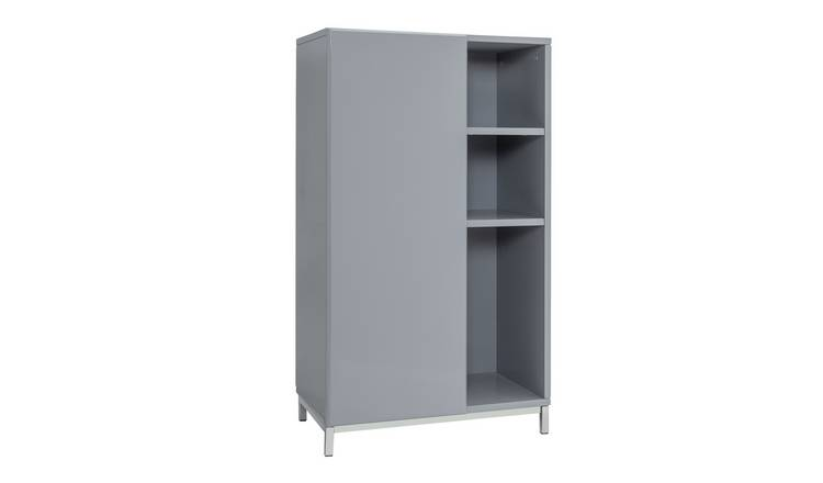 Argos Home Gloss Double Unit - Grey