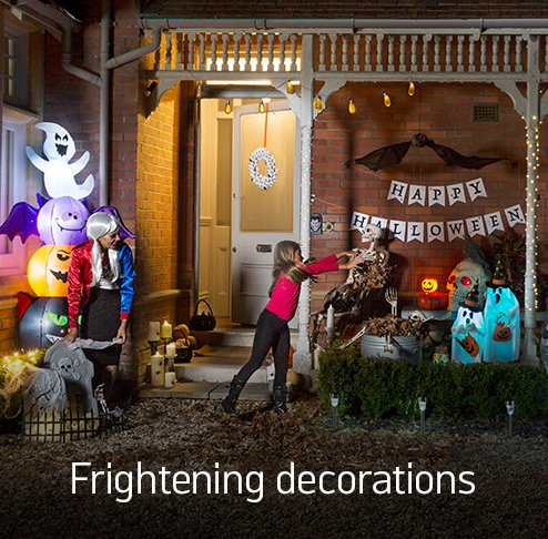 Frightening decorations.
