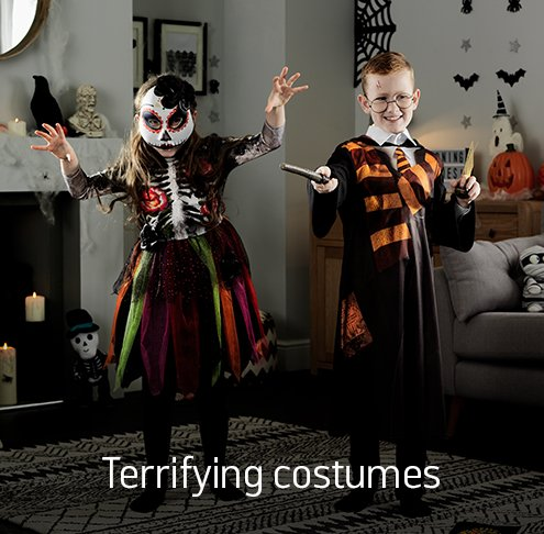Terrfiying costumes.