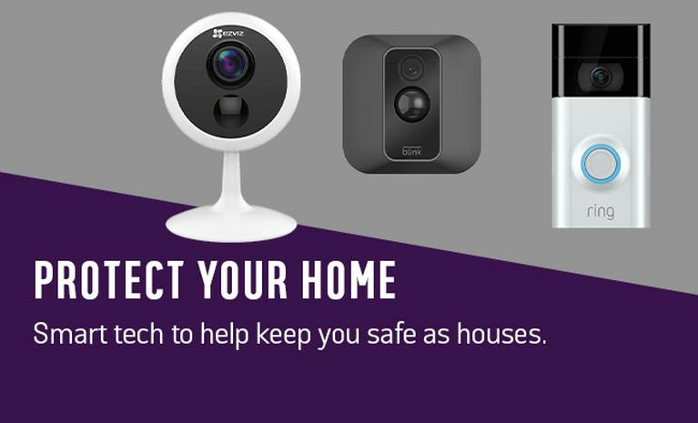 Protect your home. Smart tech to help keep you safe as houses.