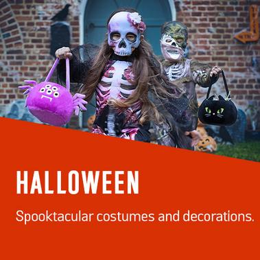 Halloween. Spooktacular costumes and decorations.