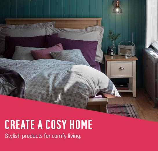 Create a cosy home - Stylish products for comfy living.