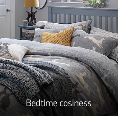 Bedtime cosiness. Make bedtime snuggly and stylish.