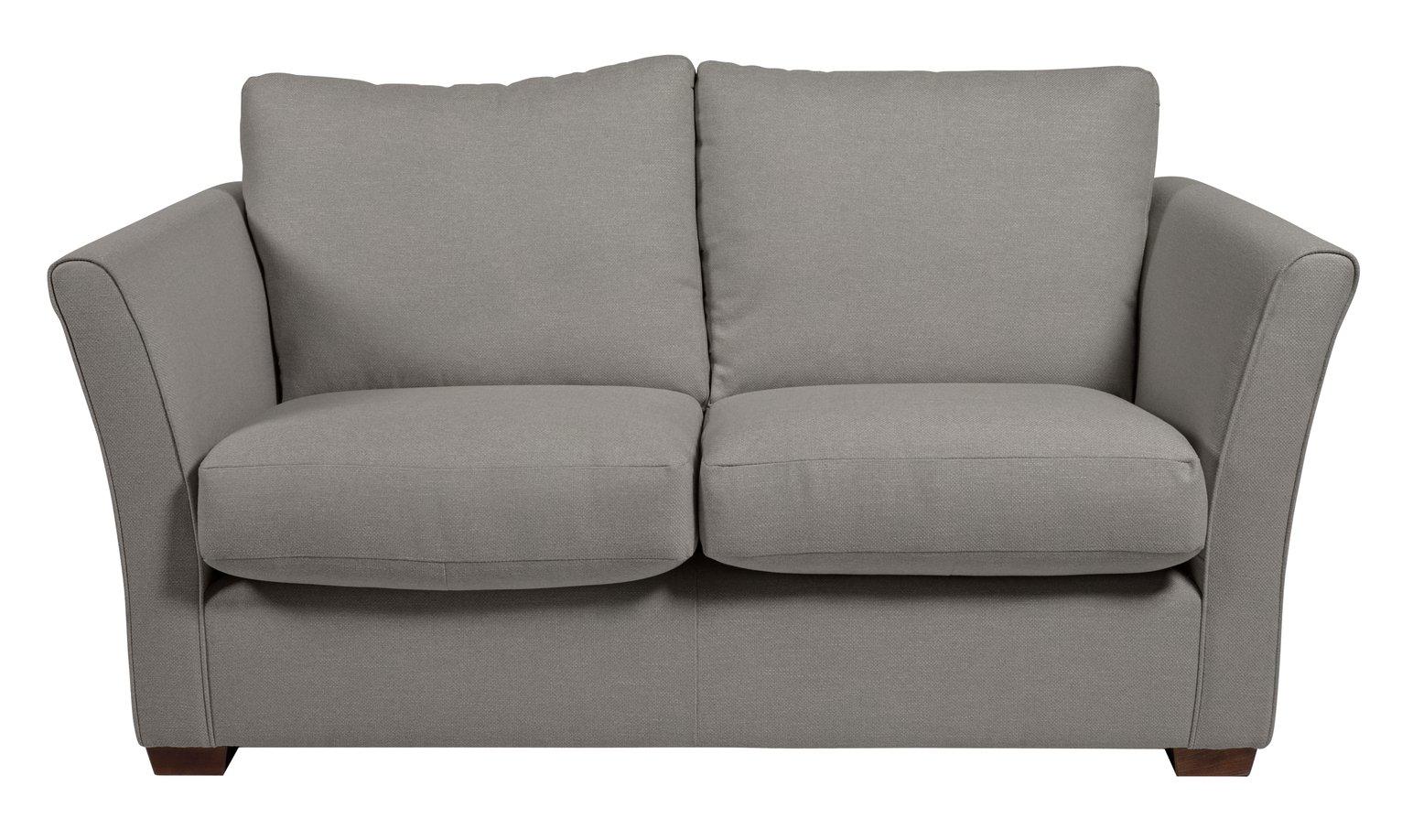 Argos Home Dawson 2 Seater Fabric Sofa - Grey