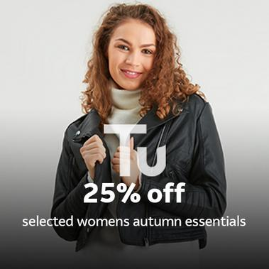 25% off selected women's autumn essentials.