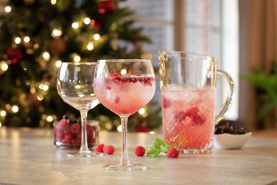 Cheers with Christmas cocktails