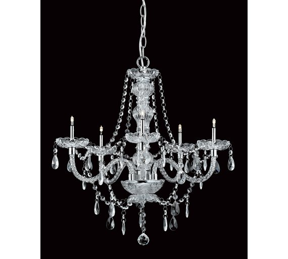 Buy imperia crystal 5 bulb chandelier chrome ceiling and wall click to zoom aloadofball Gallery