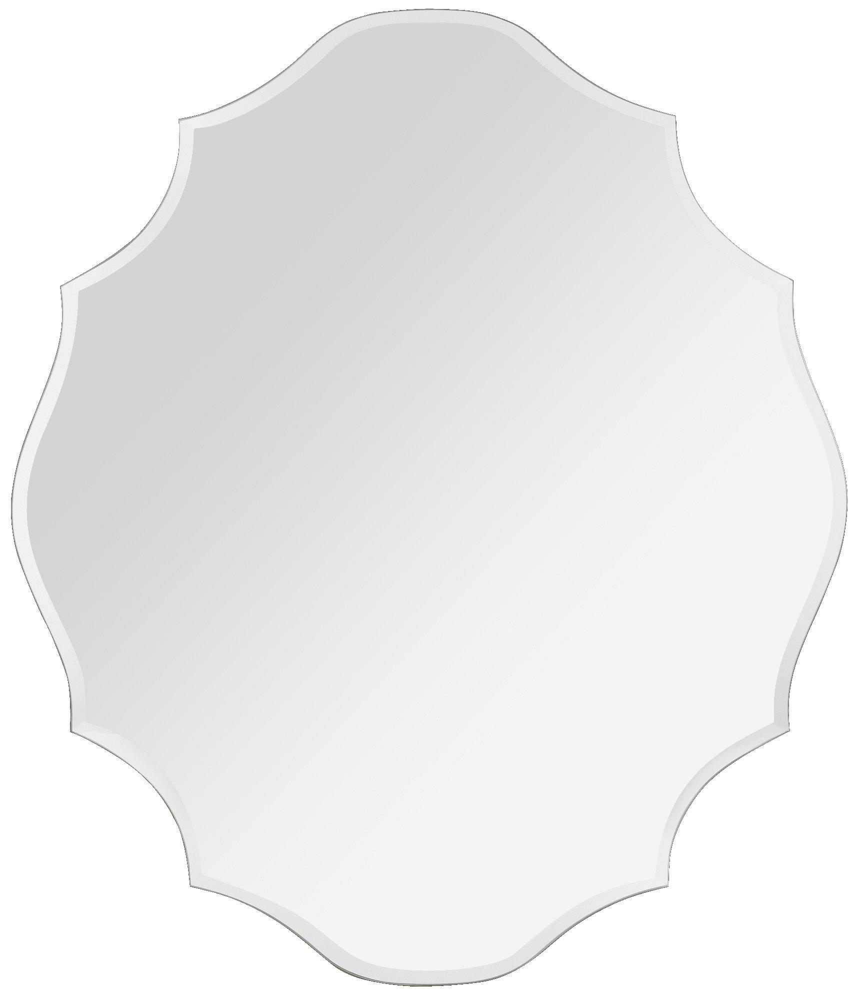 Argos Home Scalloped Frameless Bevelled Wall Mirror