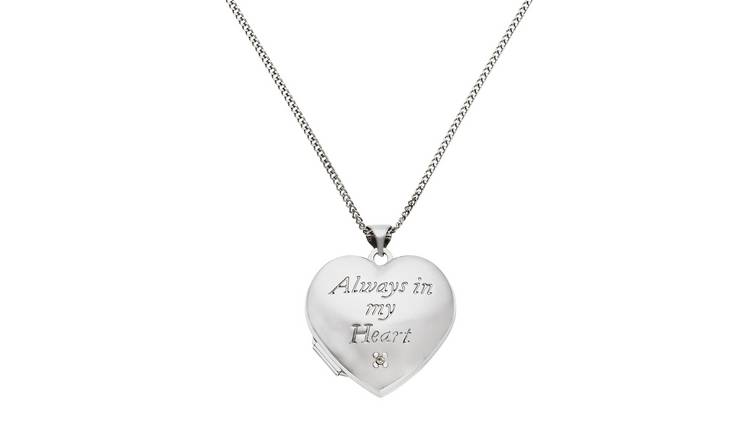 Moon & Back 'In My Heart' Photo Locket  Pendant Necklace