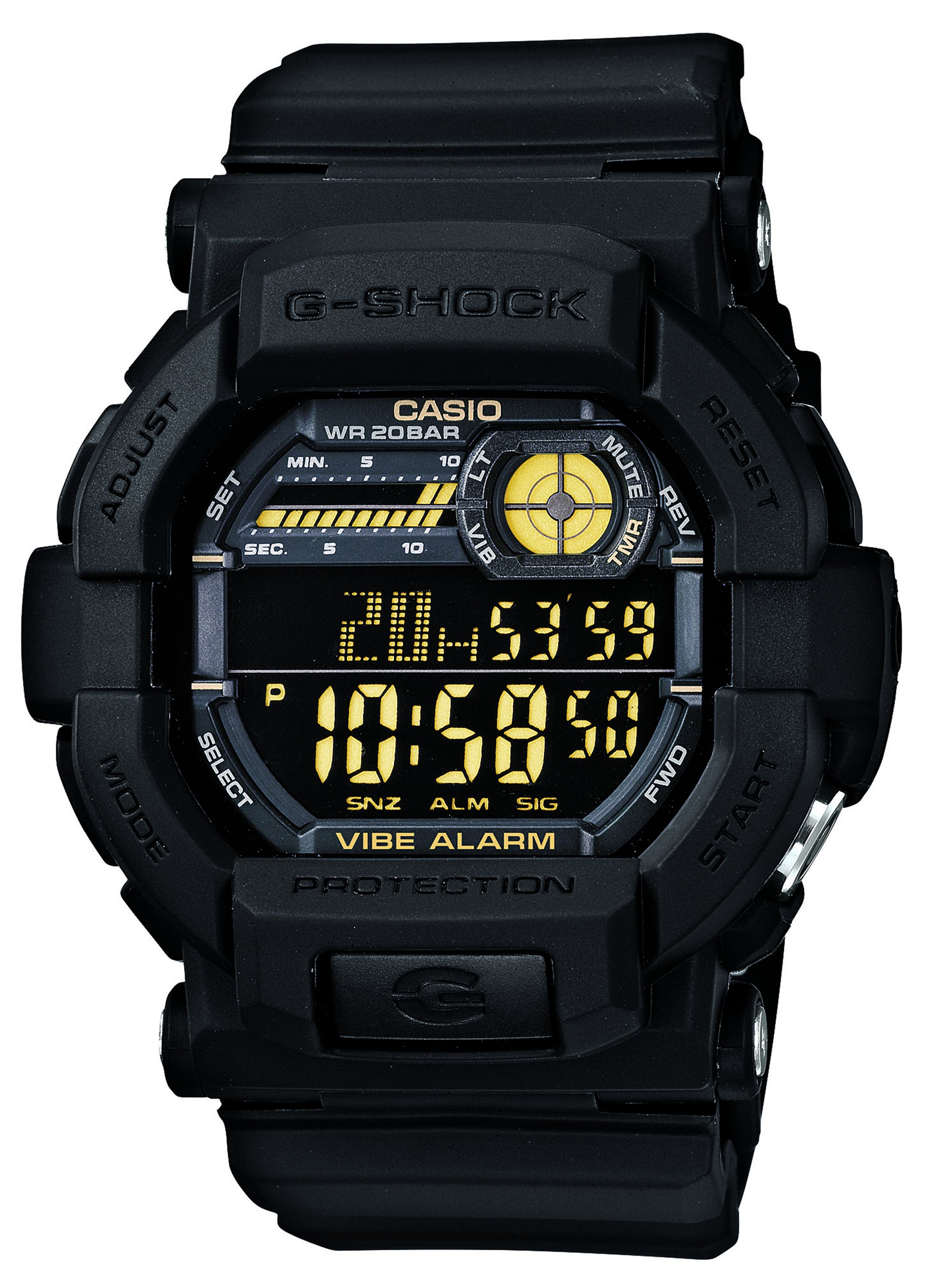 Casio G-Shock Men's Black Resin Strap Vibration Alert Watch