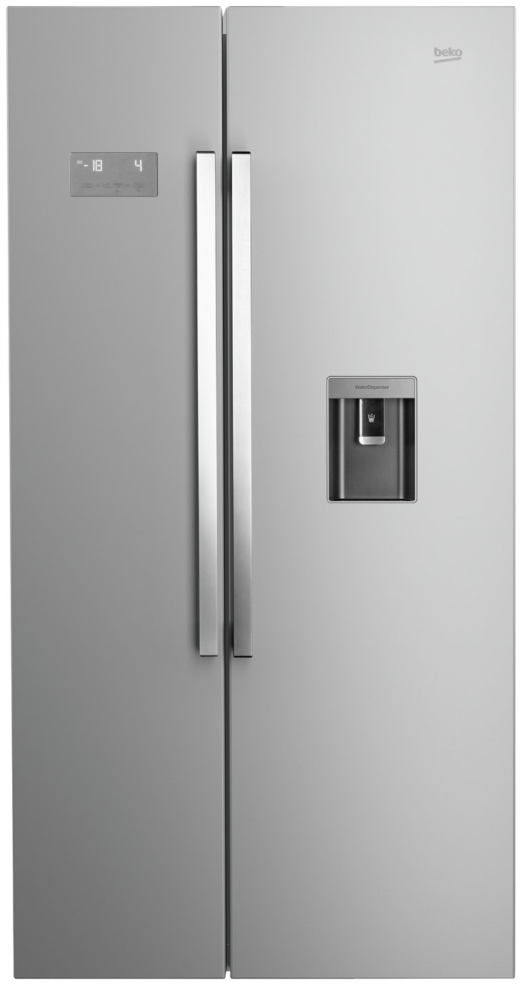 Image of Beko - ASD241X American - Fridge Freezer - Stainless Steel