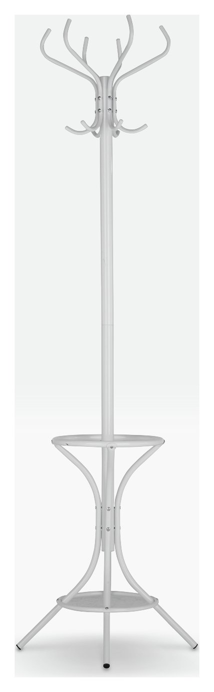 Argos Home Metal Hat and Coat Stand - White