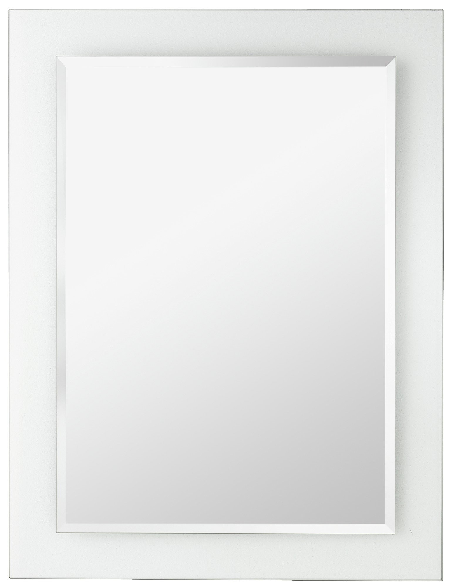 Argos Home Rectangular Clear Border Bathroom Mirror