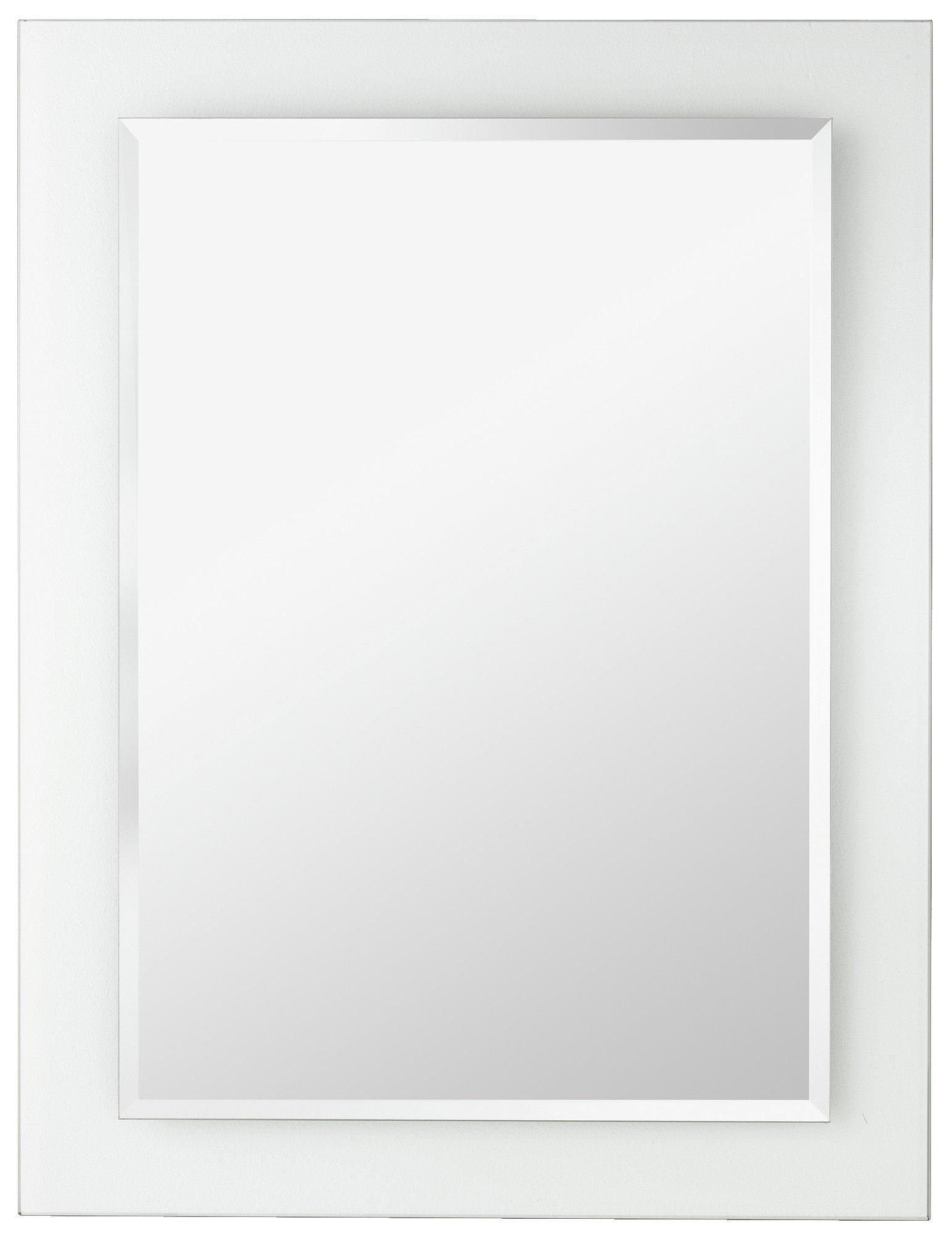 bathroom mirror. home rectangular clear border bathroom mirror