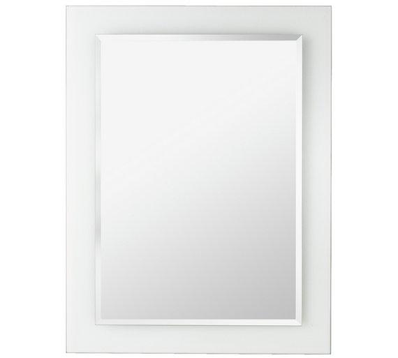 Buy HOME Rectangular Clear Border Bathroom Mirror At Argoscouk