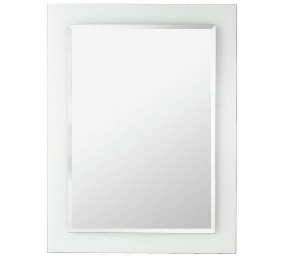 Buy home clear border bathroom mirror at for Where can i buy bathroom mirrors