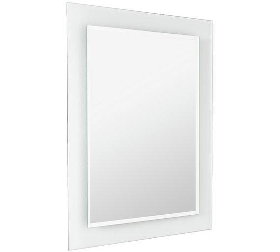 Buy Home Rectangular Clear Border Bathroom Mirror At Argos