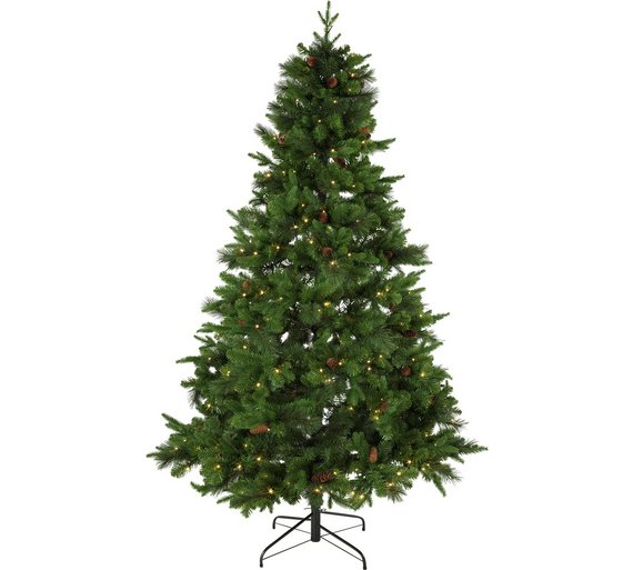 Argos Home 7ft Berry and Cone Christmas Tree - Green - Buy Argos Home 7ft Berry And Cone Christmas Tree - Green Christmas