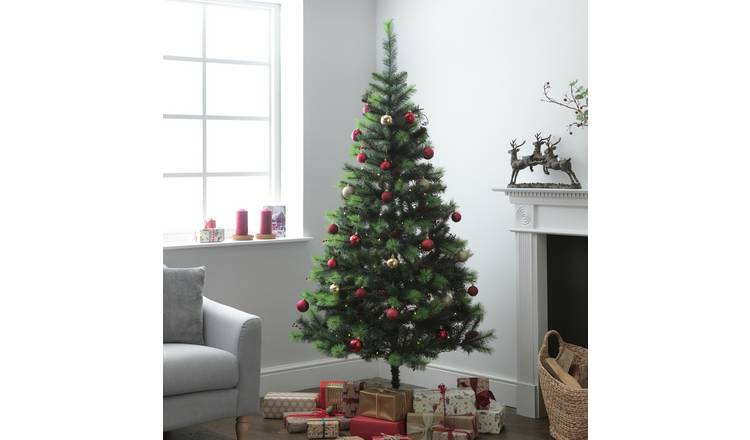 best service 94411 ae23e Buy Argos Home 7ft Berry and Cone Christmas Tree - Green | Artificial  Christmas trees | Argos
