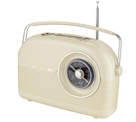 Buy bush classic retro dab radio classic cream at argos for Classic house radio