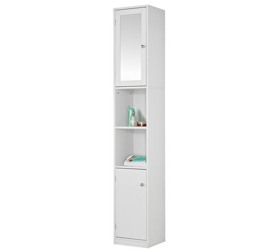 Buy HOME Mirrored Tall Bathroom Cabinet