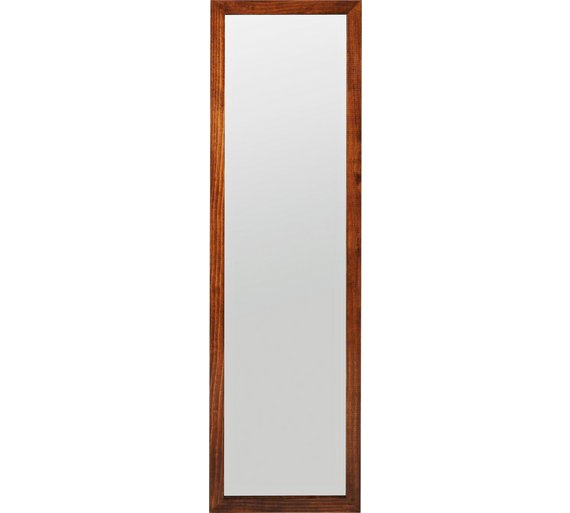 Buy home wooden full length wall mirror walnut at argos for Full length wall mirror