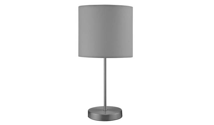 Argos Home Satin Stick Table Lamp - Flint Grey