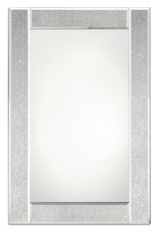 Innova Home Ascot Glitter Mirror - Silver