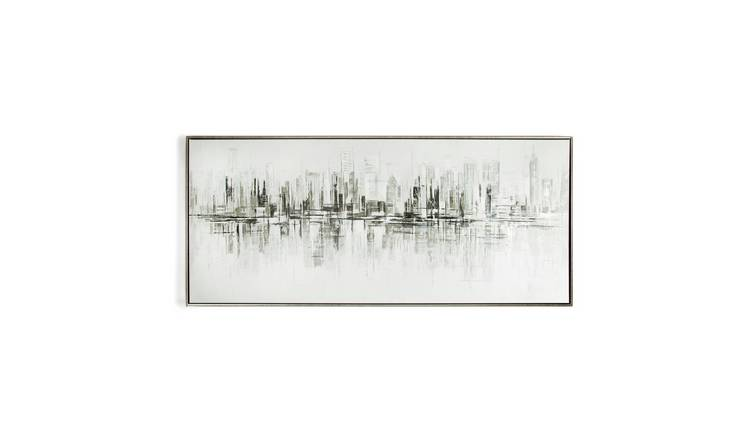 Art for the Home New York Painted Framed Canvas Wall Art