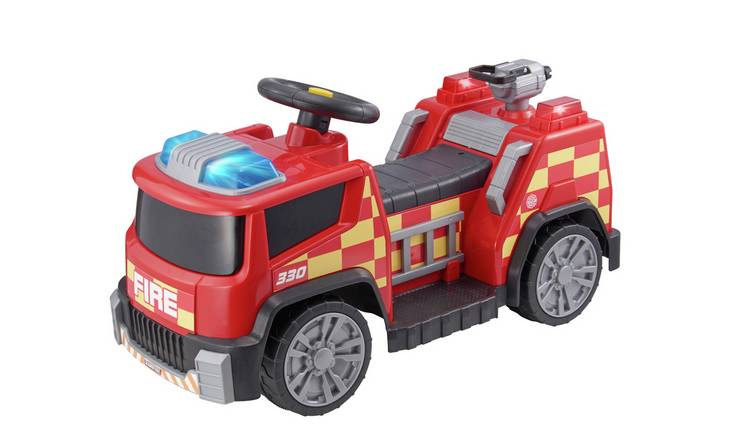 Chad Valley Fire Engine 6V Powered Ride On - Red