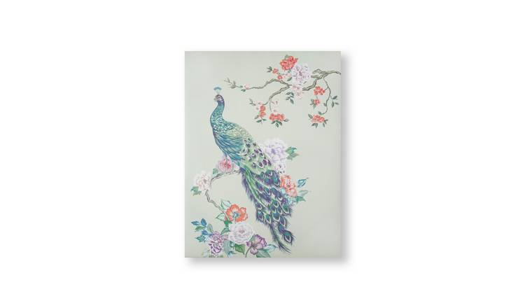 Art for the Home Pretty Peacock Printed Canvas