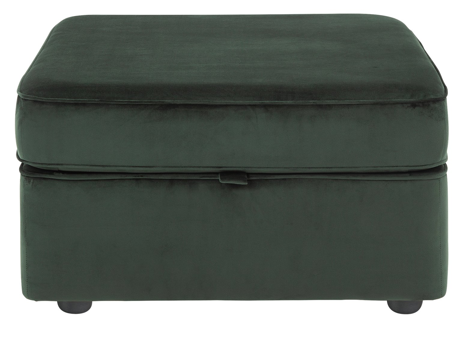 Argos Home Atticus Velvet Storage Footstool - Green