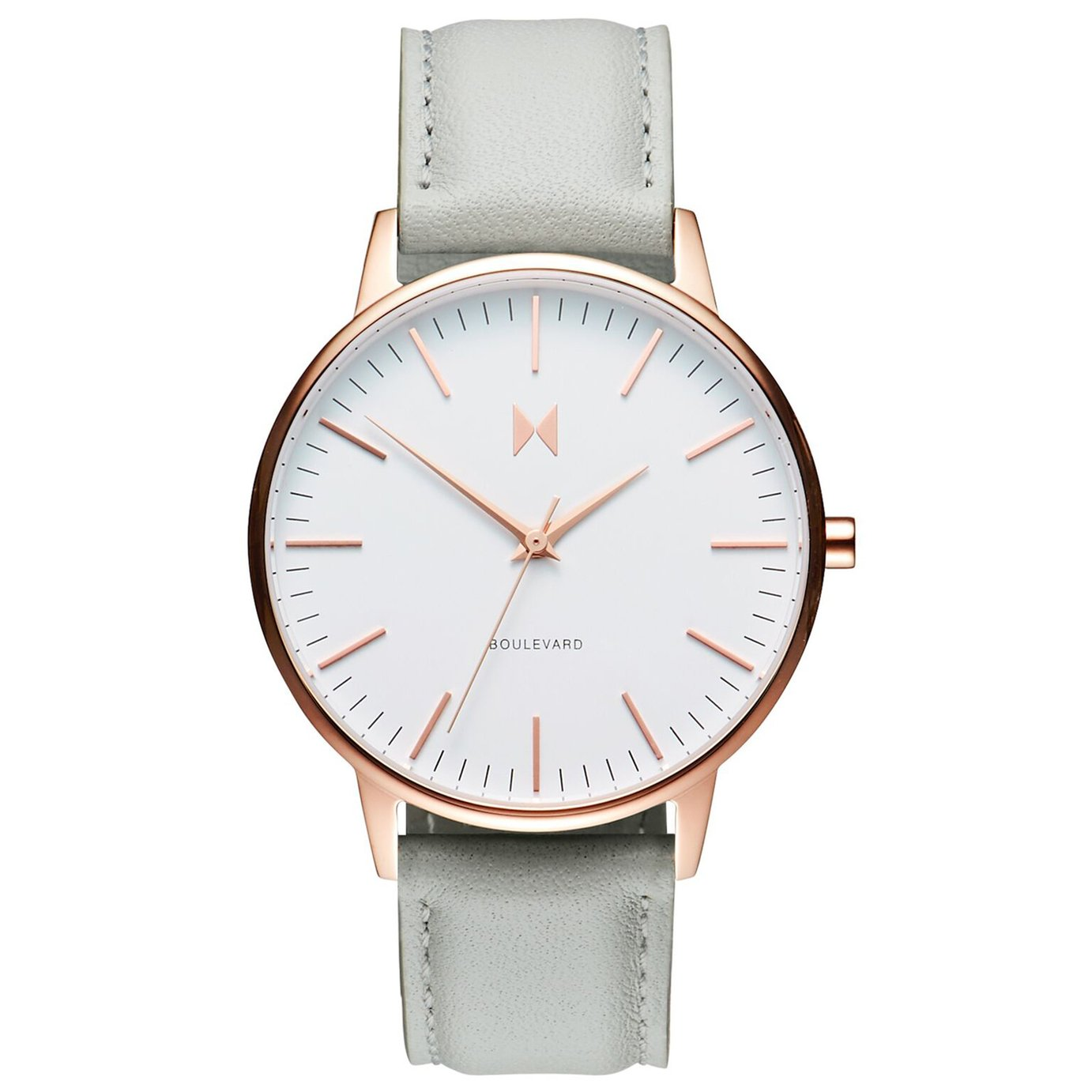 MVMT Ladies Grey Leather Strap Watch