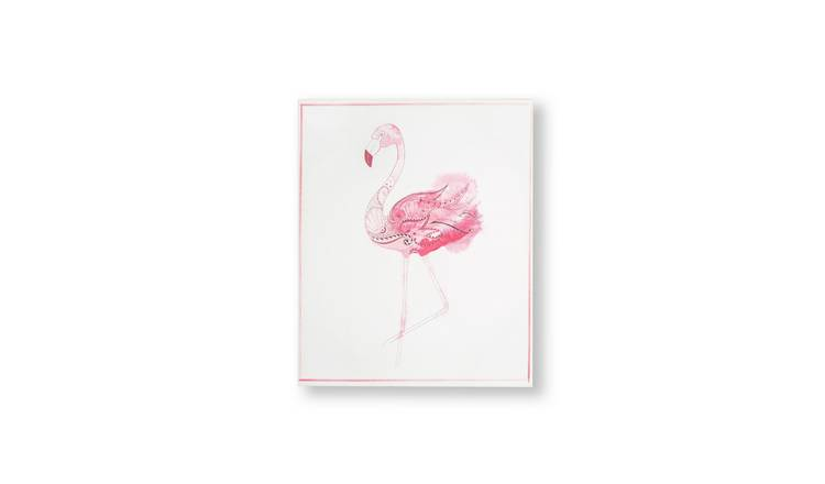 Art for the Home Fabulous Flamingo Printed Canvas