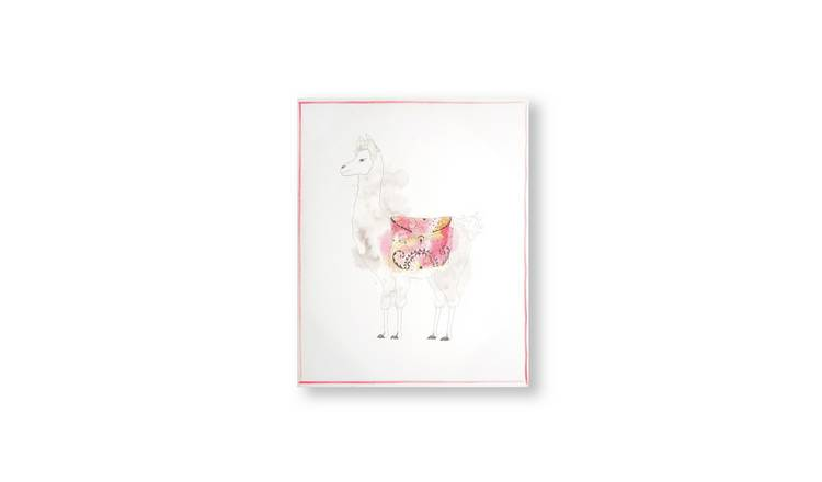 Art for the Home Lucky Llama Printed Canvas Wall Art