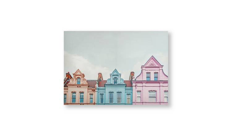 Art for the Home Pretty Pastel Skyline Printed Canvas