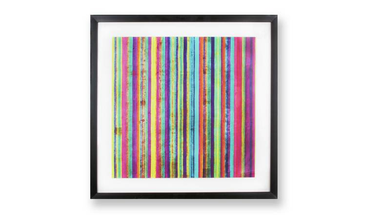 Art for the Home Neon Stripe Framed Wall Art