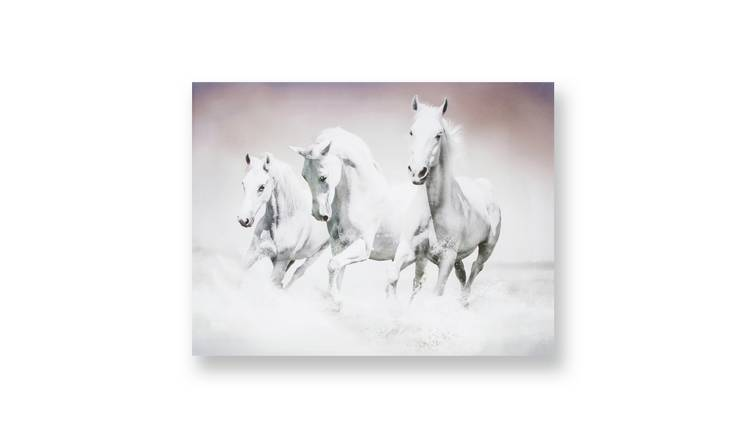 Art for the Home Galloping Waves Printed Canvas