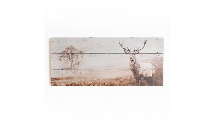 Art for the Home Stag Wooden Wall Art