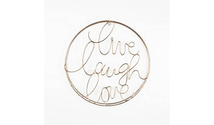 Art for the Home Live, Laugh, Love Metal Wall Art