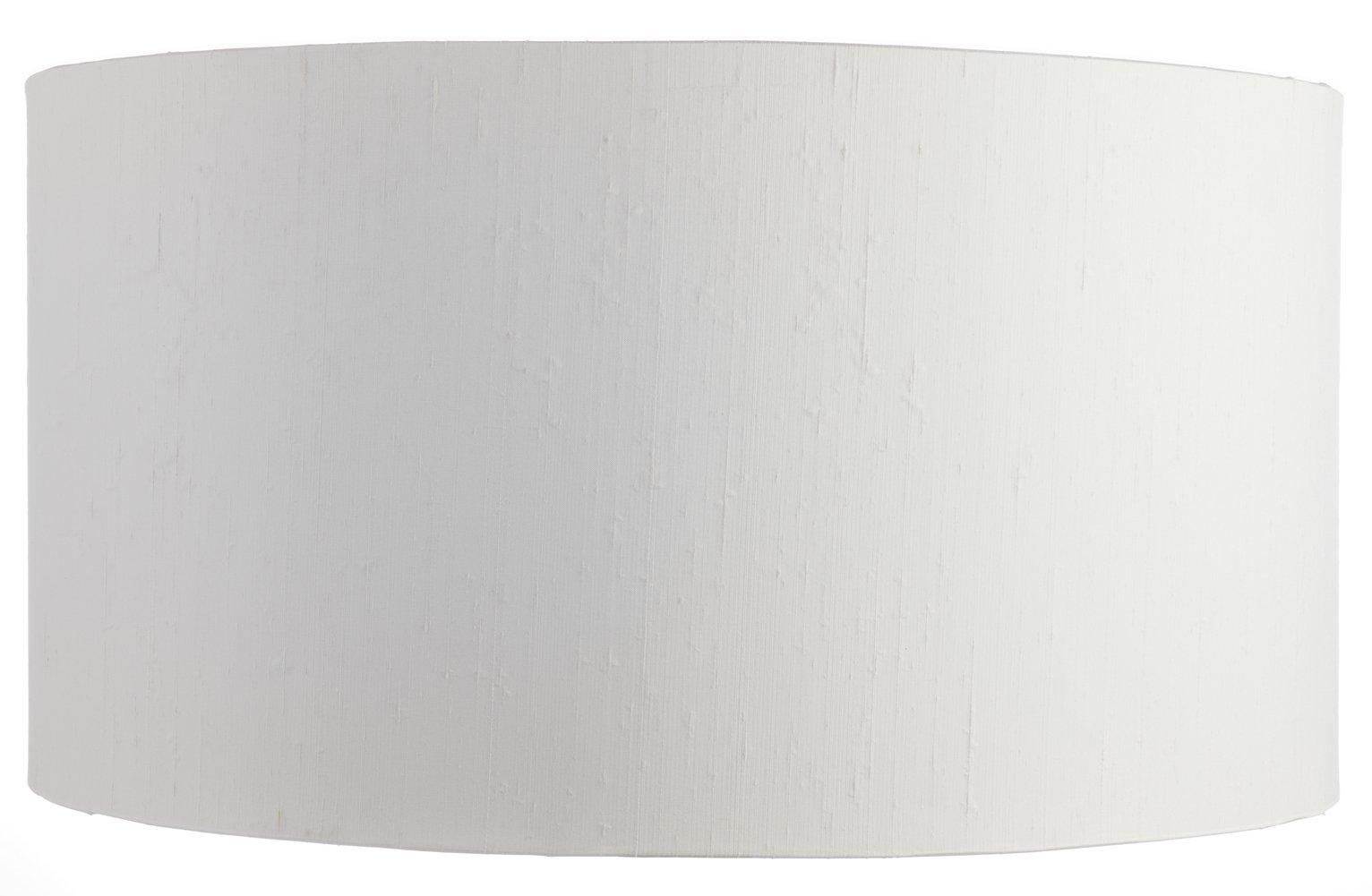 Habitat 49cm Drum Silk Shade - White