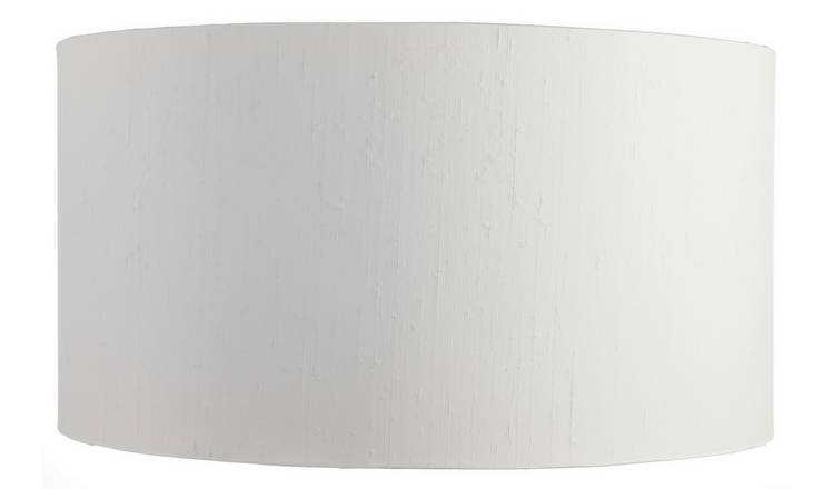 Habitat 49cm Drum Silk Shade - White