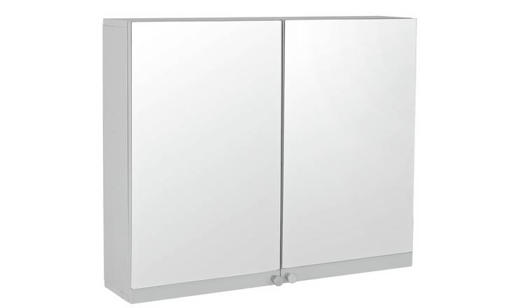 Buy Argos Home Prime Double Mirrored Wall Cabinet Bathroom Wall Cabinets Argos