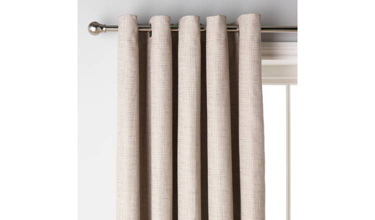 Argos Home Weave Blackout Lined Eyelet Curtains - Natural