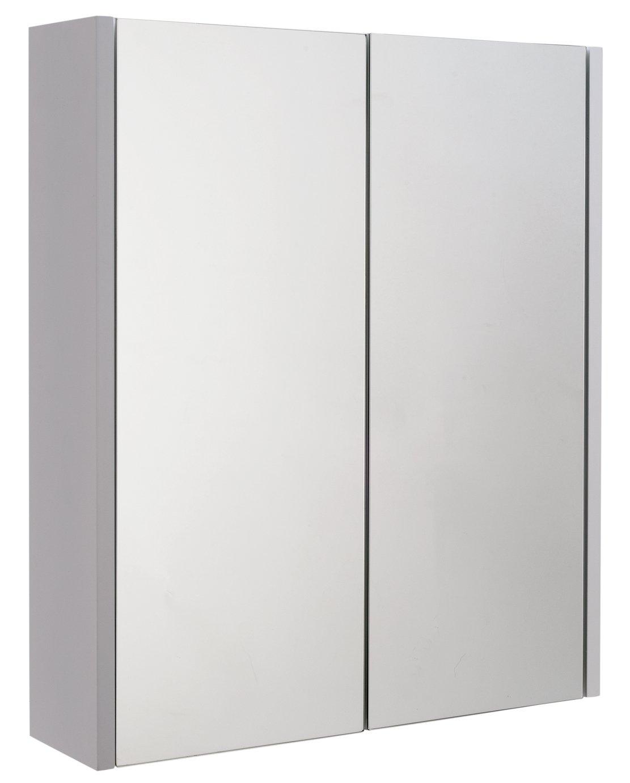 Argos Home 2 Door Mirrored Bathroom Cabinet - White