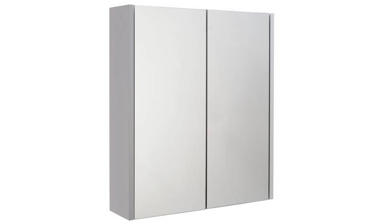 Argos Home 2 Door Mirrored Bathroom Cabinet - White