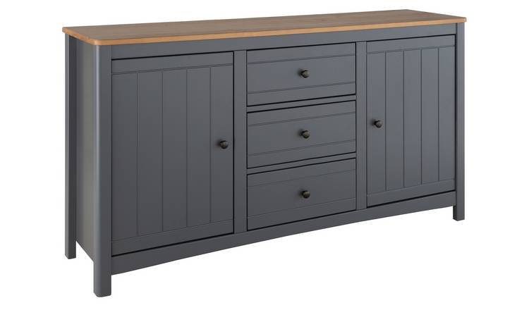Argos Home Bournemouth 2 Door 3 Drawer Sideboard - Dark Grey