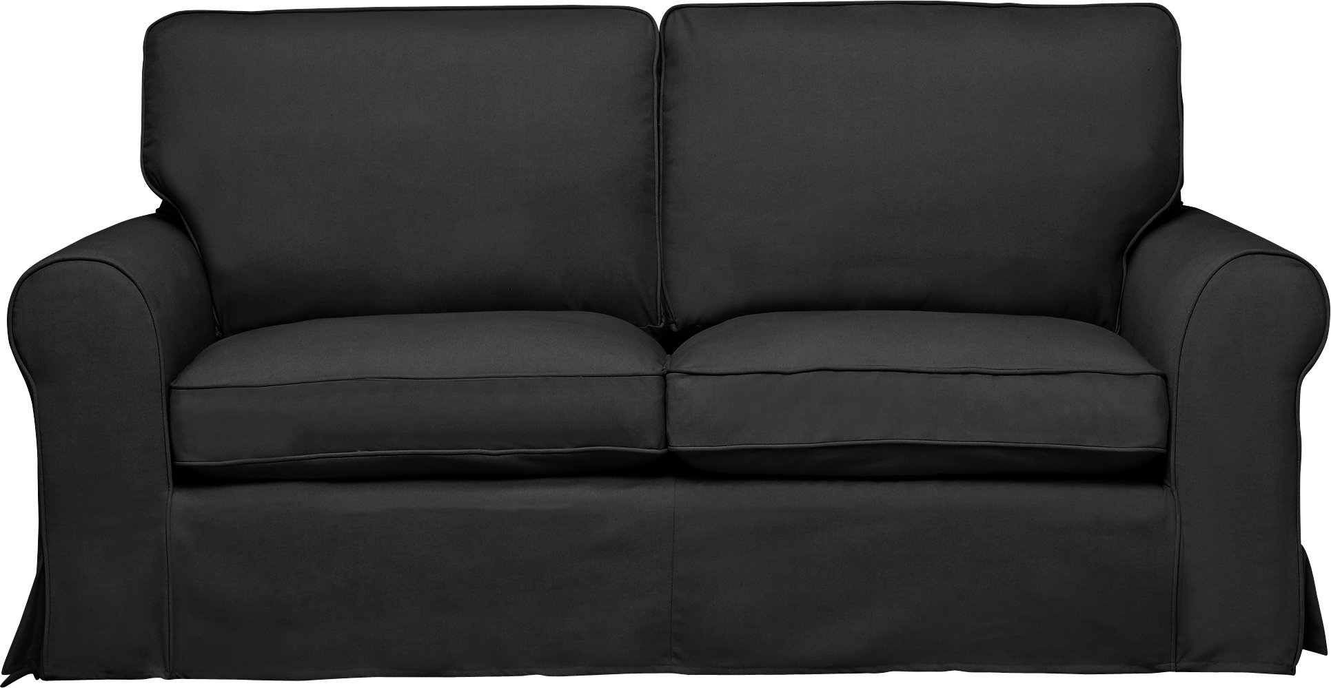 Buy HOME Charlotte 3 Seater Fabric Sofa Loose Cover Charcoal at Argos u